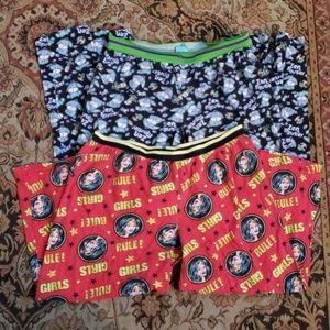 Eeyore and Wonder Woman pajama bundle medium